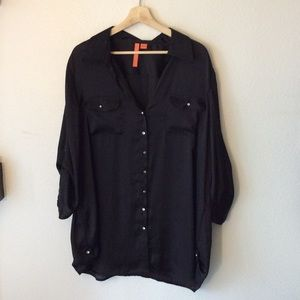 (3 FOR $20 SALE)Sunny Leigh Black Button Up Blouse